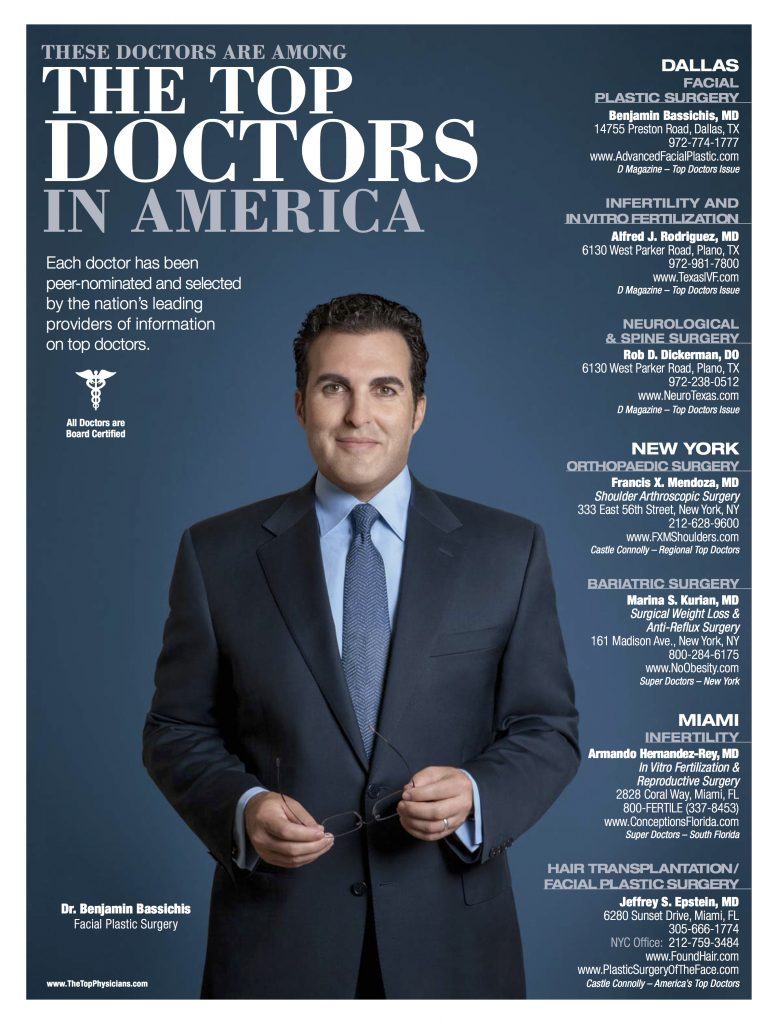 Dr. Bassichis Featured As Top Doctors in America