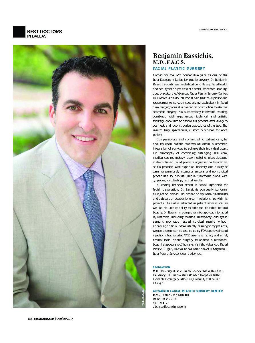 Dallas Advanced Facial Plastic Surgery Center | Dr  Benjamin